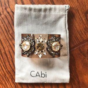 Jeweled acrylic cuff